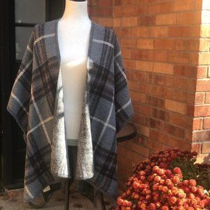 Do Everything in Love, Grey Plaid Poncho